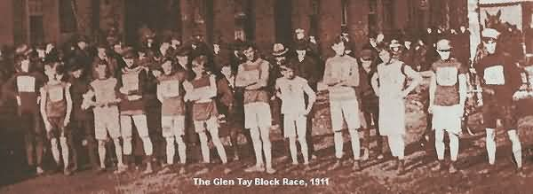 photo of the 1911 edition of the Glen Tay Block Race